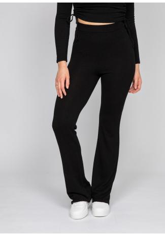 Flare trouser in black