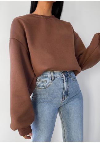 Sudadera oversize marrón - Algodón