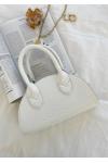 Half moon bag in white