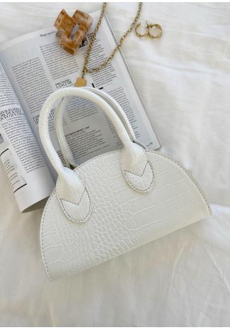 Petit sac demi-lune blanc