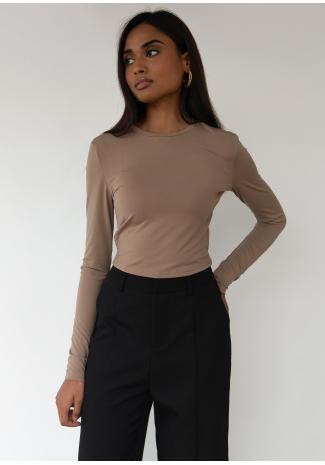 Split front trouser in black