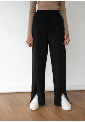 Pantalón con abertura delantera - negro