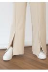 Split front trouser in beige