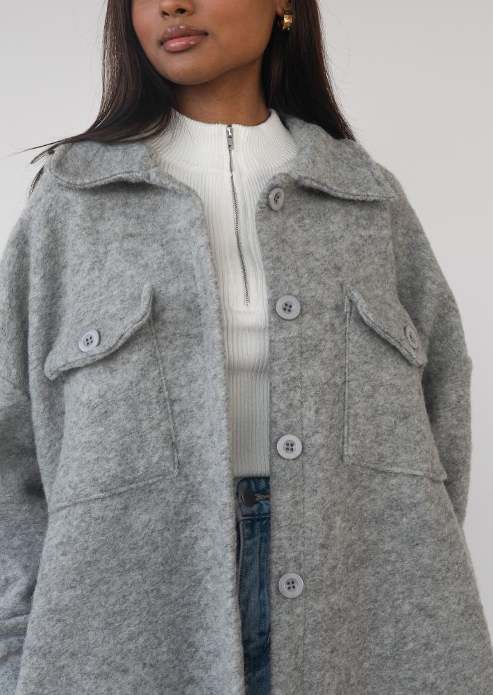 Long jacket in grey