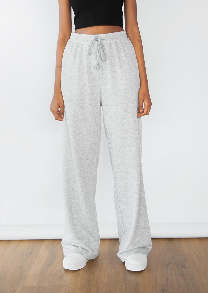 Straight leg jogger in grey marl