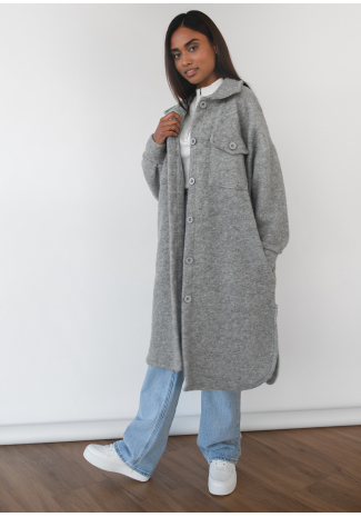 Long jacket in grey