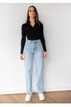 Jeans de corte holgado y pernera recta en azul claro