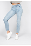 Jean mom fit taille haute