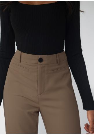 Pantalones de sastre de pernera recta - Marrón