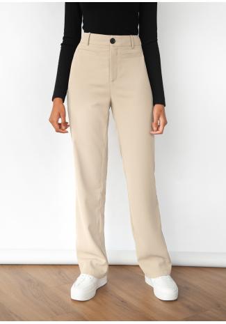 Pantalon droit ajusté - Beige