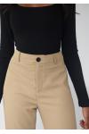 Pantalones de sastre de pernera recta - Topo