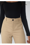 Tailored straight leg trousers - taupe