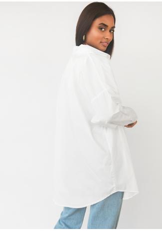 Camisa oversize blanca de algodón