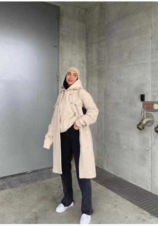 Long jacket in beige