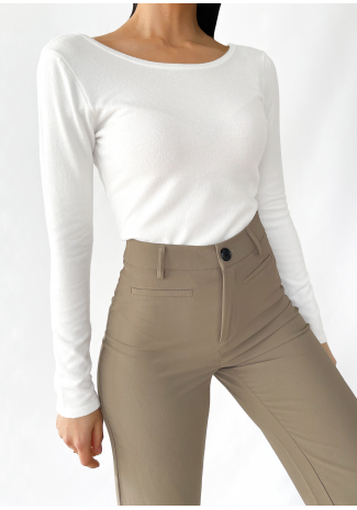 Pull avec dos ouvert blanc