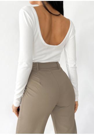 Jersey con espalda abierta en blanco