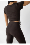 Flare trouser in brown