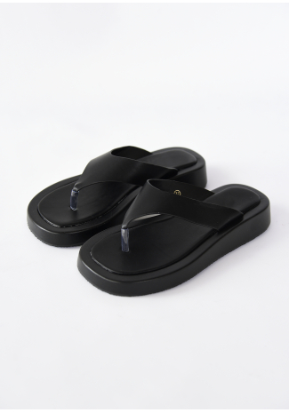 Sandales plateforme plates à entredoigt