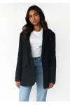 Oversized blazer in black
