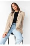 Oversized blazer in beige