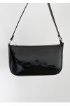 Shoulder bag in black patent