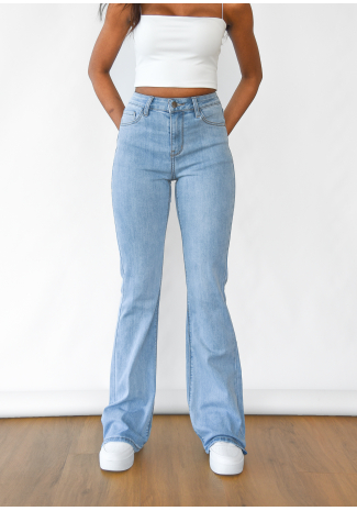 Flare jeans in light blue