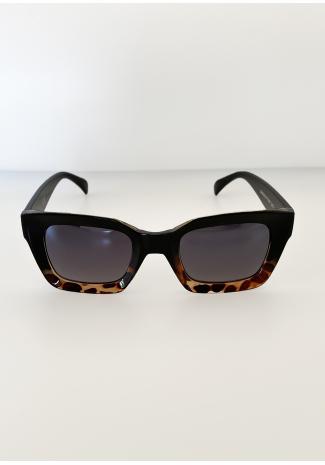 Gafas de sol con montura cuadrada de carey desgastado