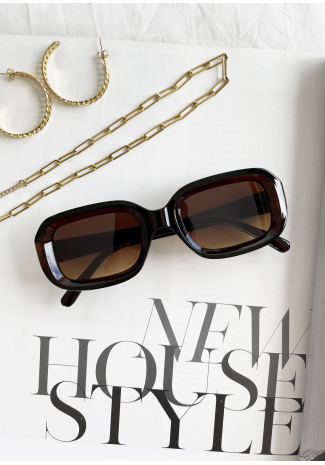 Gafas de sol marrón rectangulares