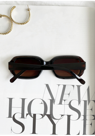 Rectangle sunglasses in brown