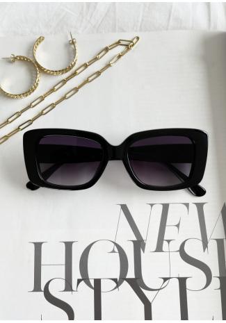 Chunky rectangular sunglasses in black
