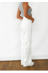 Wide flare jeans in white