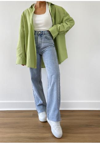 Camisa verde extragrande