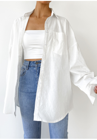 Chemise oversize blanche