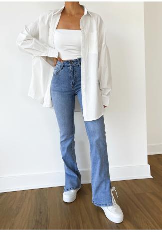 Oversized shirt in white