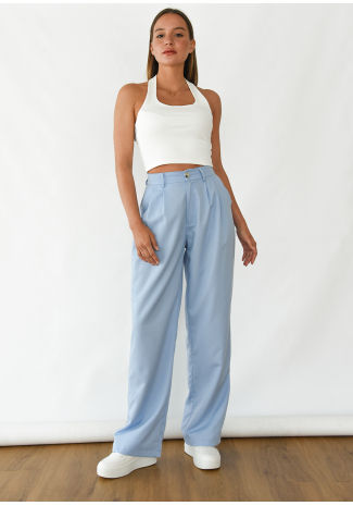 Wide leg pants in blue