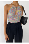 Halter neck cut out top