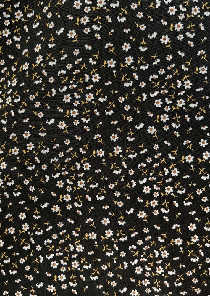 Robe fleurie dos nu noir