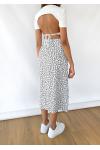 Midi skirt with side split in floral print