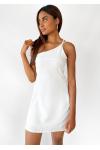 Robe courte asymétrique blanc