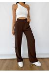 Pantalones cargo marrón de pernera ancha