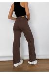 Brown straight leg jeans