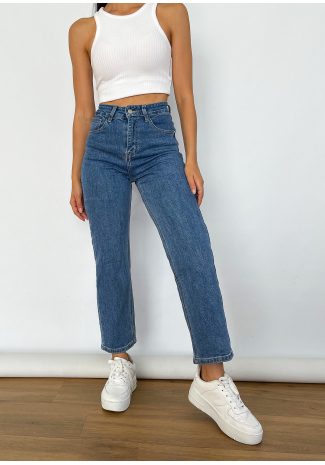 Dad jeans azul