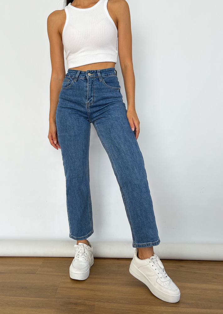 Dad jeans in blue