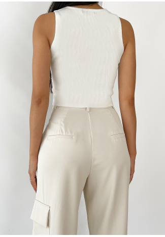 Top style corset blanc