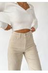 pantalon velours beige