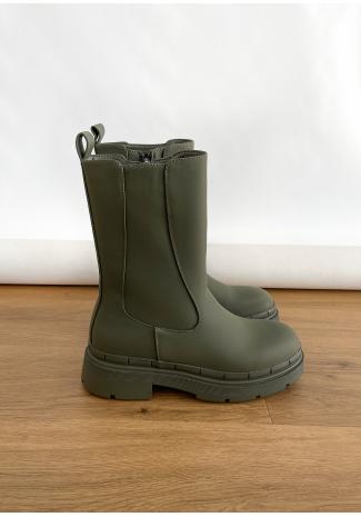 Bottines Chelsea chunky kaki