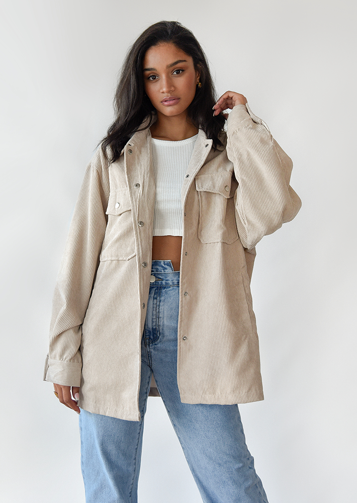 Oversized corduroy jacket