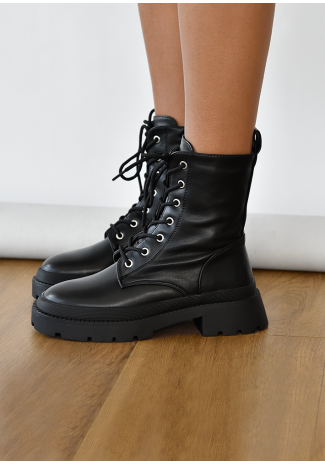 Bottines chunky à lacets