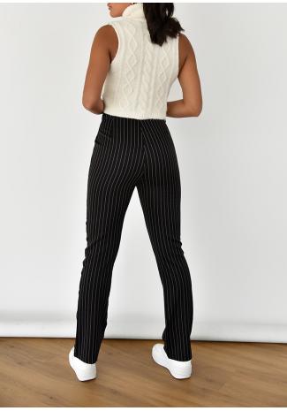 Pantalon rayé noir
