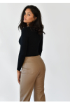 Jumper with cut out detail in black